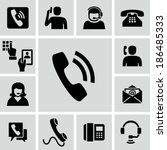 phone calling icons  | Shutterstock .eps vector #186485333