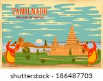 illustration depicting the culture of Tamilnadu, India
