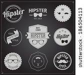 set of vintage styled design... | Shutterstock .eps vector #186504113