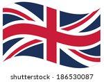 waving flag of great britain... | Shutterstock .eps vector #186530087