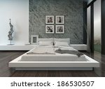 Modern Bedroom Interior With...