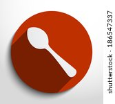 vector dishware and cutlery web ... | Shutterstock .eps vector #186547337