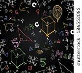 vector chalkboard school... | Shutterstock .eps vector #186552083