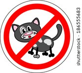 Sign No Cats. Fully Editable...