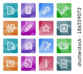 document white icons on color... | Shutterstock .eps vector #186559073