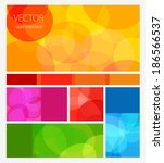 vector colored flat user... | Shutterstock .eps vector #186566537