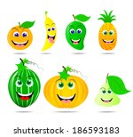 smile fruit | Shutterstock .eps vector #186593183