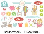 vector magic colorful set. | Shutterstock .eps vector #186594083