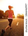 runner athlete running at road. ... | Shutterstock . vector #186646997