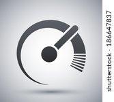 vector speedometer icon | Shutterstock .eps vector #186647837