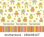 baby greeting card or... | Shutterstock . vector #186648167