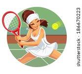 Beautiful Girl Play Tennis....