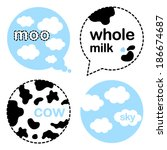 abstract,animal,blue,bubbles,clouds,cow,design,label,milk,moo,sky,spotty,vector,whole,with