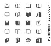 book flat icons | Shutterstock .eps vector #186677387