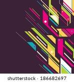 bright futuristic background | Shutterstock .eps vector #186682697
