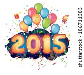 2015 new year | Shutterstock .eps vector #186711383