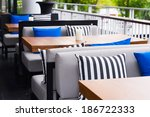 restaurant outdoor sofa table... | Shutterstock . vector #186722333