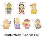 japanese seven gods of fortune | Shutterstock . vector #186735143