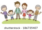 asian happy family | Shutterstock . vector #186735407