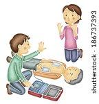 Asian Man Using Defibrillator