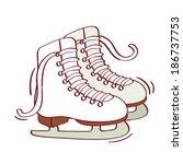 illustration of figure skates | Shutterstock . vector #186737753