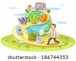 illustration of businessman... | Shutterstock . vector #186744353