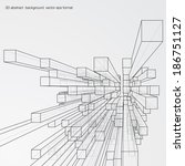 Abstract 3d Cubes Vector...
