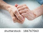 care is at home of elderly. old ... | Shutterstock . vector #186767063