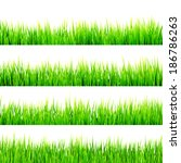 fresh spring green grass... | Shutterstock .eps vector #186786263