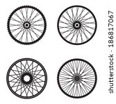 bicycle wheels isolated on... | Shutterstock .eps vector #186817067
