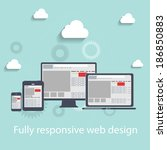 responsive web design icon. ... | Shutterstock . vector #186850883