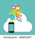 cloud computing concept on... | Shutterstock . vector #186852647
