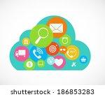 cloud computing concept on... | Shutterstock . vector #186853283
