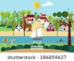 austrian town | Shutterstock . vector #186854627