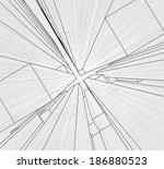 abstract 3d cubes vector... | Shutterstock .eps vector #186880523