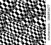 Checkered Balls Background