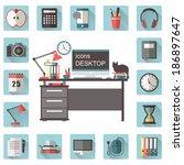 "icons ""desktop"" | Shutterstock .eps vector #186897647"