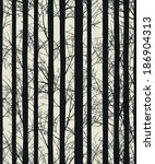 seamless texture with trees ... | Shutterstock .eps vector #186904313