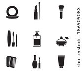 cosmetics icons set  | Shutterstock .eps vector #186909083