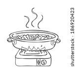 shabu shabu doodle | Shutterstock . vector #186920423