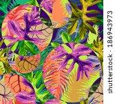 tropical leaves | Shutterstock .eps vector #186943973