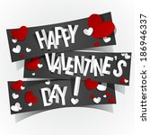 happy valentines day greeting... | Shutterstock .eps vector #186946337