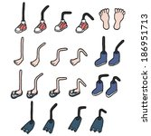 cartoon feet set | Shutterstock .eps vector #186951713