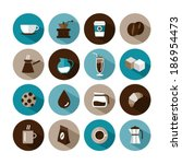 set of vector coffee icons | Shutterstock .eps vector #186954473