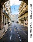 old lisbon street  portugal | Shutterstock . vector #186961883
