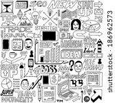 business idea doodle set. ... | Shutterstock .eps vector #186962573