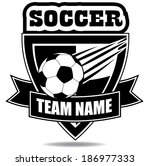 soccer badge icon symbol  | Shutterstock . vector #186977333
