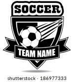 soccer badge icon symbol  | Shutterstock . vector #186977333