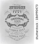 calligraphic design elements... | Shutterstock . vector #186990473