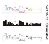 vilnius skyline linear style... | Shutterstock .eps vector #187011293